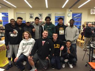 11 BHS students sign contracts for collegiate athletics