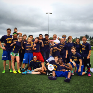 Westside Ultimate Coed team wins their first League Championship