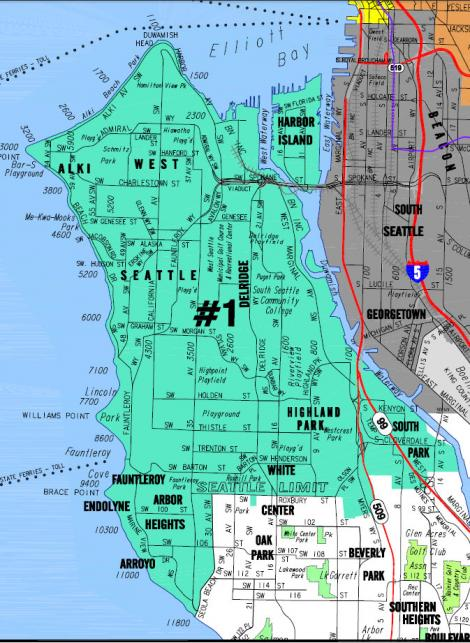 South West Seattle Map Wire Get Free About World Maps