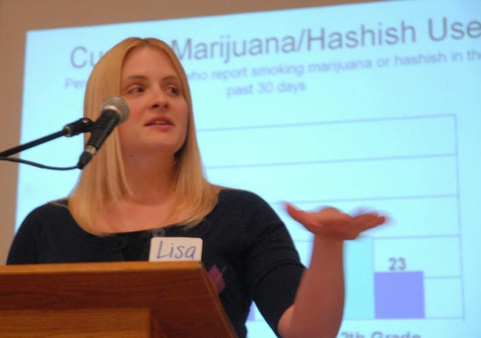 She spoke at a forum about teen drug abuse and parent/teen communication at ...